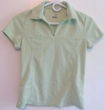 Izod Xfg Cool Fx Light Green Cycling Running Short Sleeve Polo Top Shirt! Sz Xs