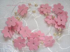 Tischdekoration zur Hochzeit Verlobung Kommunion Tischdeko TD0052 (rosa Blume)
