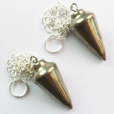 2pcs Beautiful Pyrite pendulum Pendant Bead R0086533