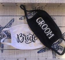 Set Of 2 Reusable Mask Bride And Groom Cotton Mask