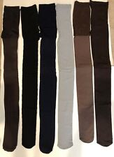 Women's Hue/Hanes Tights, Blue/Black/Browns/Gray, Textured/Opaque Size 2 or M/L