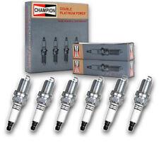 6 pc Champion 7546 Double Platinum Spark Plugs RC10PYPB4 - Pre Gapped zh