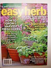 Easy Herb Gardening 2016 BRAND NEW! FROM HARRIS FARMER'S ALMANAC FREE SHIPPING!