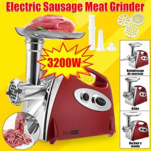 Elektrischer Fleischwolf Wurstmaschine Wurstfüller Wurstaufsatz Fleischmasch ROT