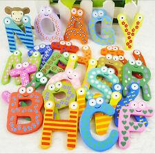 26pcs Letters Kids Wooden Alphabet Fridge Baby Toys Magnet Child Educational Toy