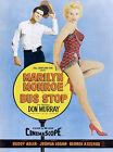 "MARILYN MONROE BUS STOP Movie Poster- CANVAS ART PRINT 16""X 12"""