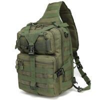 """14""""Tactical Men's Sling Bag Military Shoulder Sling Backpack Strap Daypacks"""