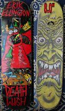 "Erik Ellington Death Toon Skateboard Deck with Rob Roskopp Grip Tape - 8.0"""