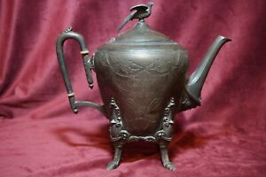 Aesthetic Movement Teapot  Middletown Plate Co,  Triple Plate  c. 1864-1899