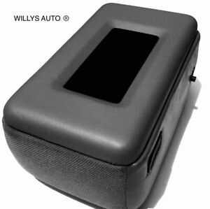 Ford Ranger Center console lid Armrest New  padded (Dark Gray)With phone tray!