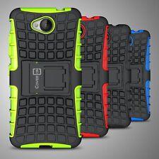 For Microsoft Lumia 650 Case Hard & Soft Hybrid Protective Kickstand Phone Cover