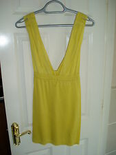 Ladies Designer French Connection Size S Yellow Strappy Top