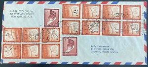 1960 United Nations New York USA airmail Cover to Dhahran Saudi Arabia v