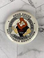 DARE Lion Drug Abuse Vintage Button Pin