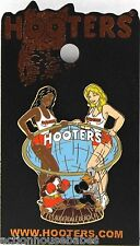 HOOTERS 2 SEXY GIRLS  HOOTIE OWL BOXING DUCK FIGHT FT LAUDERDALE FL FLORDIA PIN