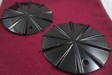 Mizati Wheels Gloss Black Custom Wheel Center Caps Set of 2 # I-CAP