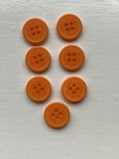 7 Bright Orange Calvin Klein Round Buttons -  As Per Picture For Size
