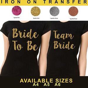 Wedding 2019 Hen Do Party Iron On Transfer T Shirt Sparkle Your Text Vinyl Crew