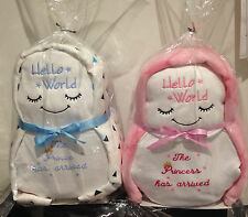 newborn baby gift hamper personalised Cute sleeping  baby doll nappy cake