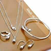 Women Girls Valentine's Gift Jewelry Set Gift Necklace Bracelet & Earrings Ring