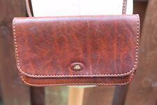 THE BRIDGE Saddle Shoulder Satchel Messenger Bag Quality Italian Brown Leather