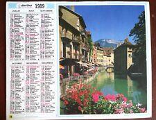 ALMANACH des Postes P.T.T 1989; Chamonix/ Annecy - Ed. Nord