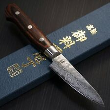 Japanese Isshin Hammered 17 Layers Damascus VG10 Paring Knife 80mm Seki Japan