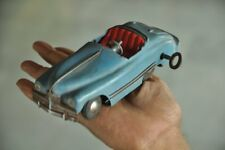 Vintage Wind Up Blue Litho Tri Ang MINIC Litho Car Tin Toy , England