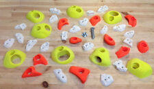 Intermediate - Advanced climbing holds. value set of 38. Wood fixings included.