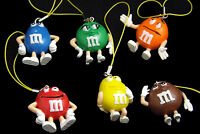 M&M's Danglers, Red, Yellow, Brown, Orange, Green, Blue, All 6
