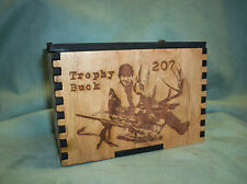 "Personalized Laser Engraved  Box  4""x 6"", keepsake Oak"
