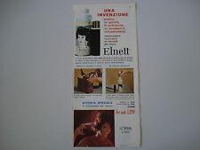 advertising Pubblicità 1961 LACCA ELNETT L'OREAL - PARIS