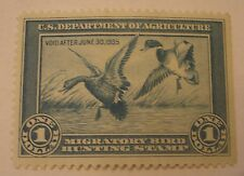 Texas Estate 1935 1st Issue US Migratory Bird Duck Stamp Unused Unsigned