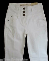 New Womens White High Waisted NEXT Jeans Size 8 6 Regular Leg 31