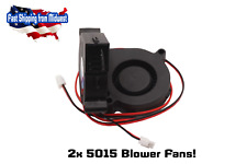 2 Pack 5015 Fan, 12V Blower Radial Cooling Fan, Hotend, RepRap, 3D Printer