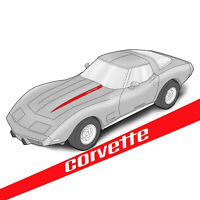 Corvette C7 Printed Sheet Twin Bed 4 Piece Set 604795