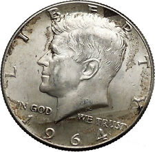 1964 President John F. Kennedy Silver Half Dollar United States USA Coin i44599