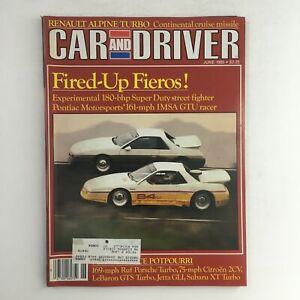 Car & Driver Magazine June 1985 Pontiac Motorsports IMSA GTU Racer Fieros, VG