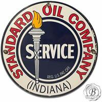 Standard Oil Company Indiana Garage Metal Sign