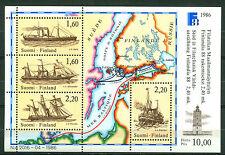 Finland 1986, Postal Ships, FINLANDIA '88, Sc# 740, SG# MS1107, S/Sheet, MNH 357