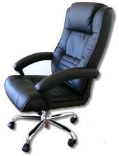 siège de direction avec massage Fauteuil cuir noir en Chaise bureau chauffage