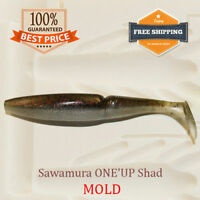 🔥 Sawamura One'Up Shad Fishing Bait Mold Mould Shad DIY Lure Tackle 50-125 mm