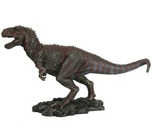 "Tyrannosaurus T. Rex Dinosaur Detailed Bronze Figurine Miniature Statue 10""L New"
