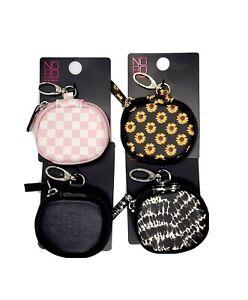 Assorted Prints Airpod or Earbud Case, Zipper Headphone Case, Zip Airpod Case