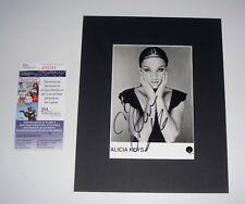 Singer Alicia Keys MATTED SIGNED 5x7 B/W Promo Photo JSA CERT FREE SHIPPING