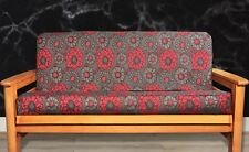 Medium image of new   red  u0026 grey flower futon cover   full size contemporay modern retro floral