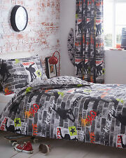 TRICKS SKATEBOARD REVERSIBLE DUVET SET SINGLE, DOUBLE OR KING