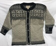 Dale of Norway Dale Classic Button Front Women's Size Small Sweater Nordic