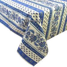 "60"" x 96"" Rectangular COATED Provence Tablecloth - Lisa White"