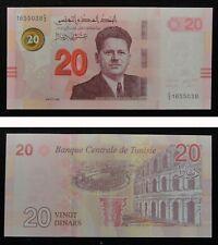 Tunisia Paper Money 20 Dinars 2017 UNC